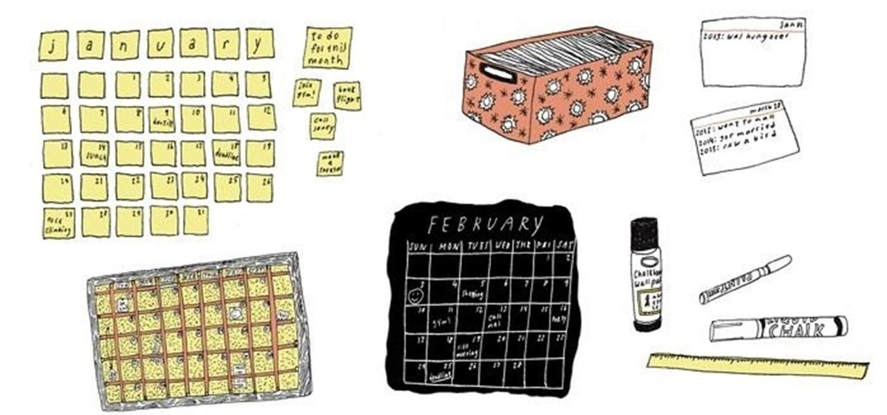 Cool Diy Calendar Ideas 2013 Secret Yumiverse
