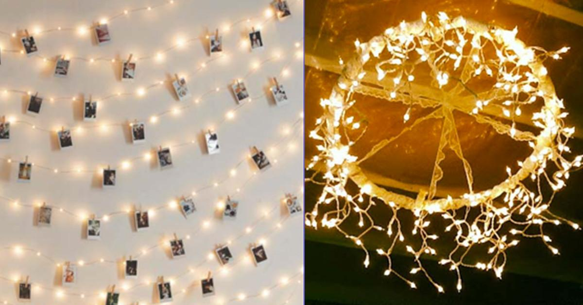Cool Diy Ideas String Lights Projects Teens