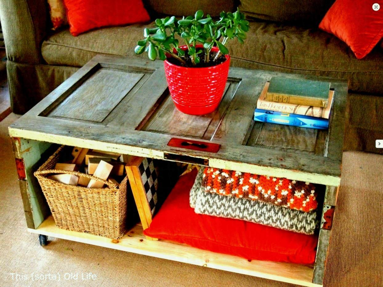 Cool Homemade Coffee Tables Antique Paint Livingroom