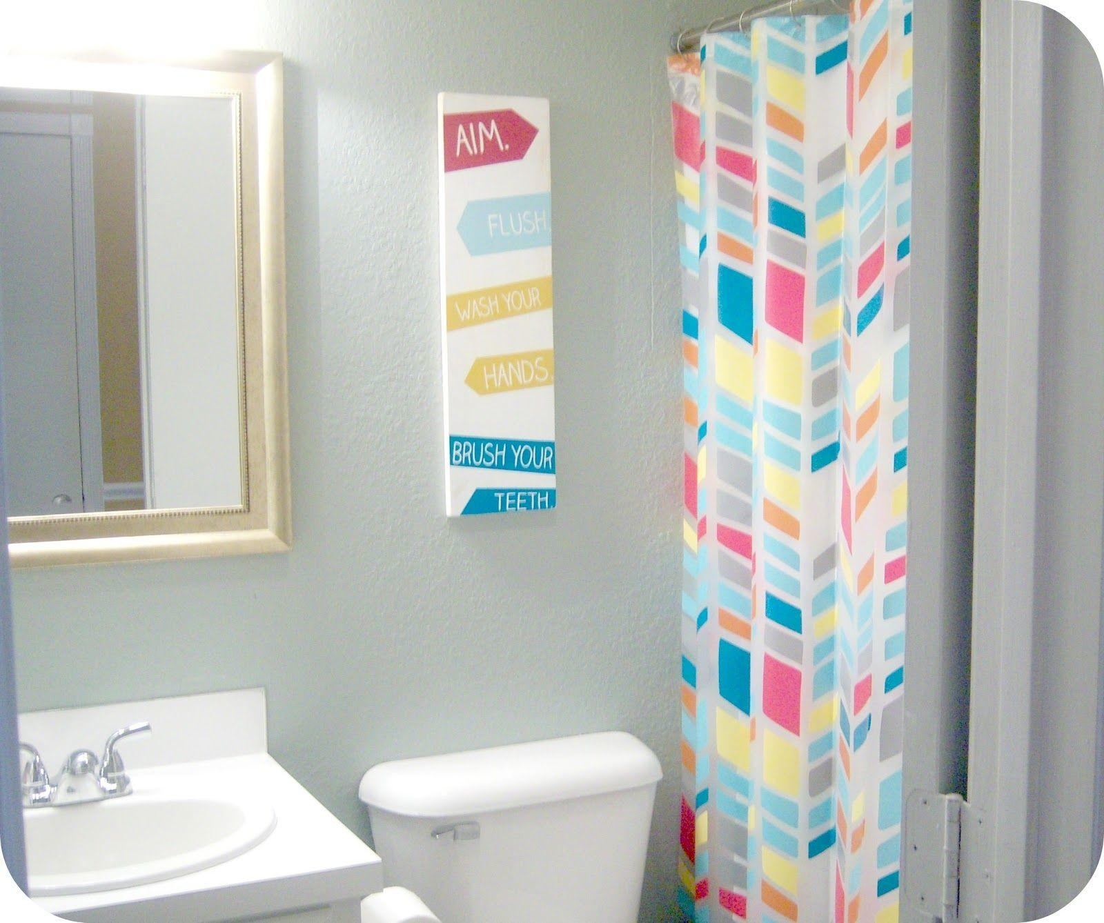 Cool Kids Bathroom Design Ideas Colorful Theme