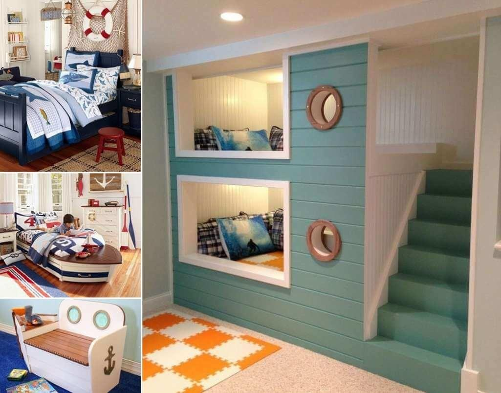 Cool Nautical Kids Bedroom Decorating Ideas