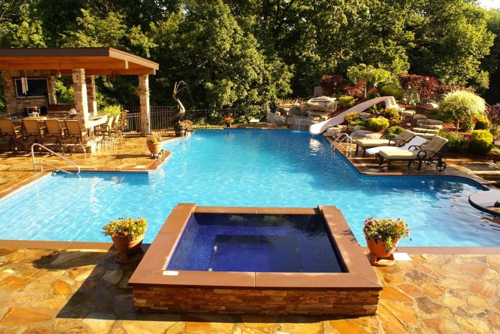 Cool Outdoor Pool Bar Decorated Luxurious Lounge