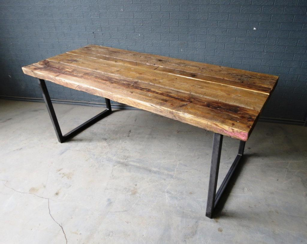 Cool Reclaimed Industrial Chic Seater Solid Wood Metal