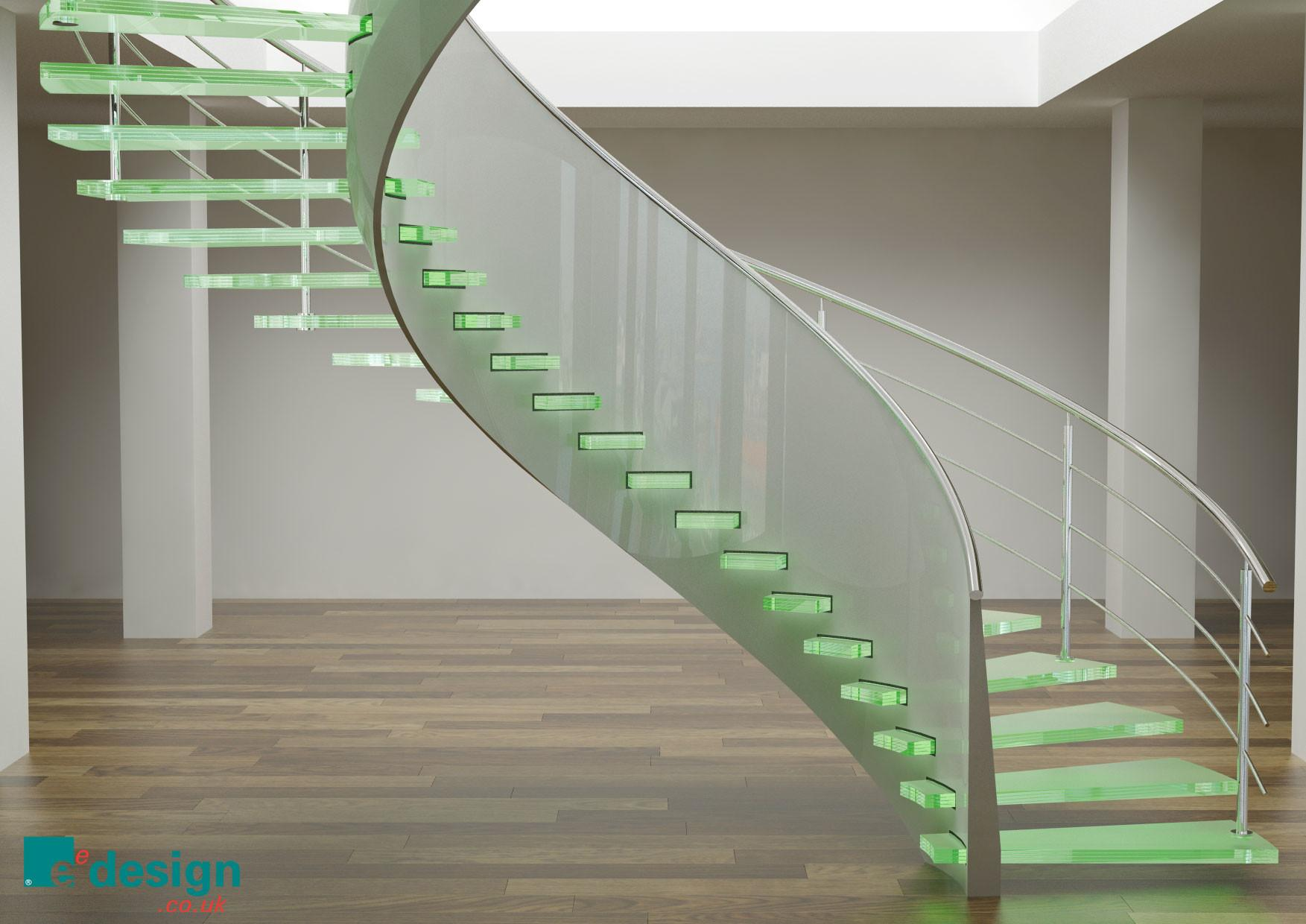 Cool Spiral Glass Staircase Ifresh Design