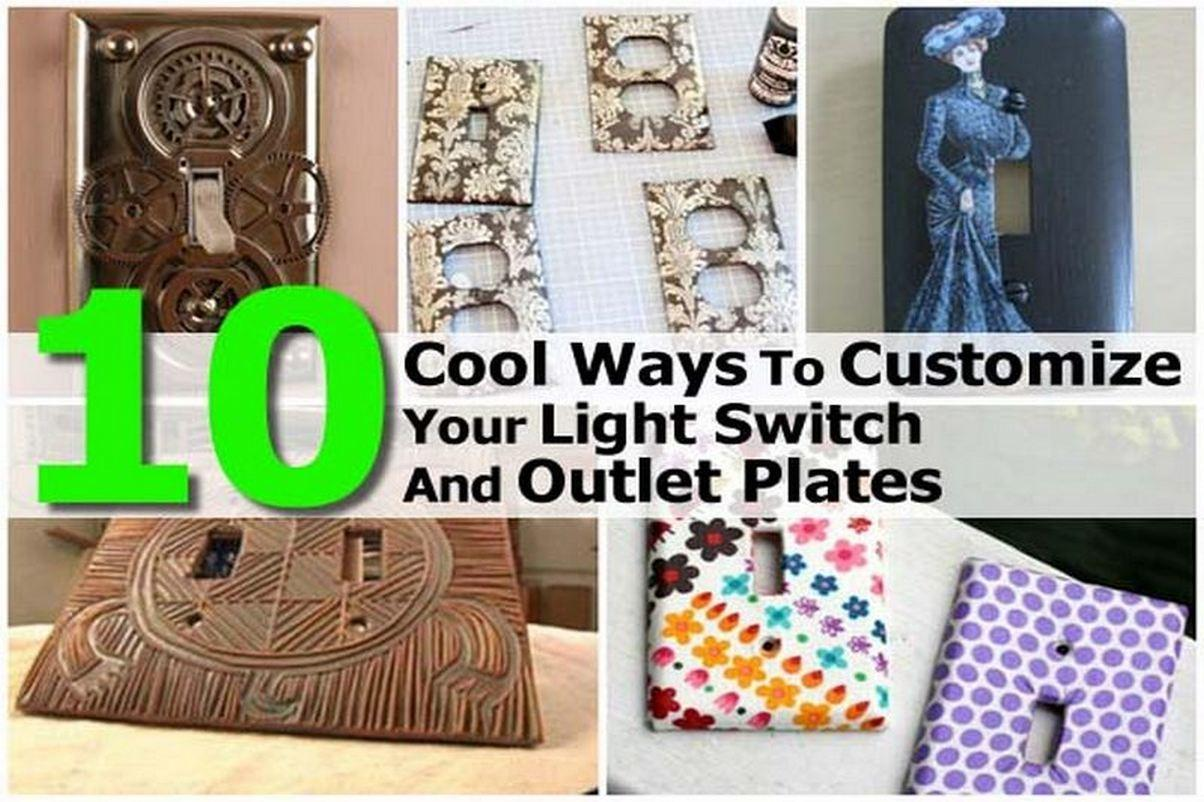 Cool Ways Customize Your Light Switch Outlet Plates