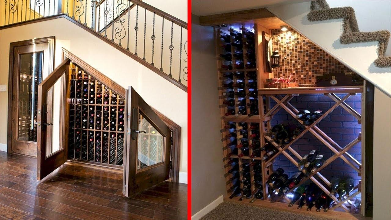 Cool Wine Cellar Under Stairs Storage Ideas