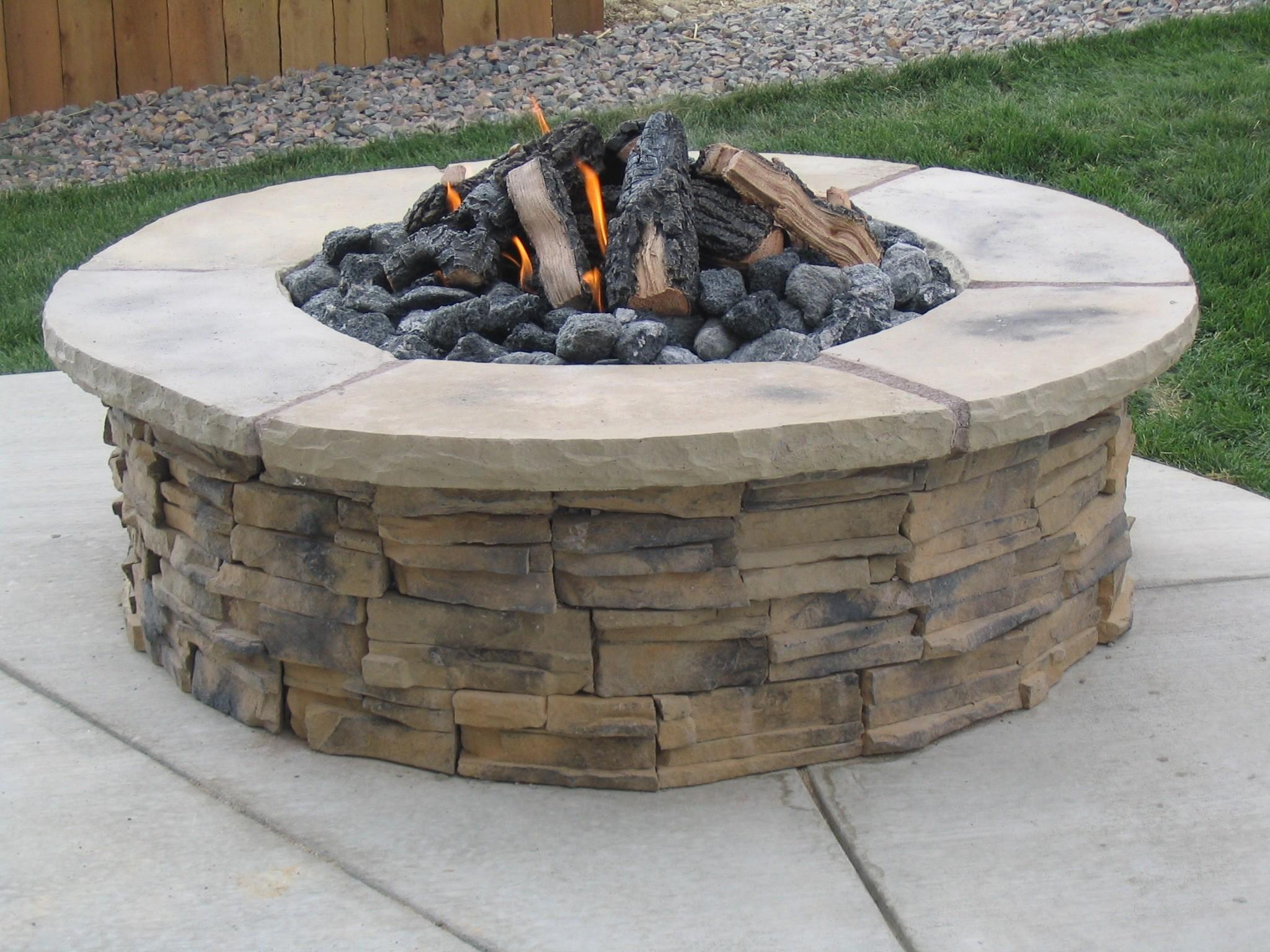 Cool Wooden Burning Fire Pits Backyard Ideas