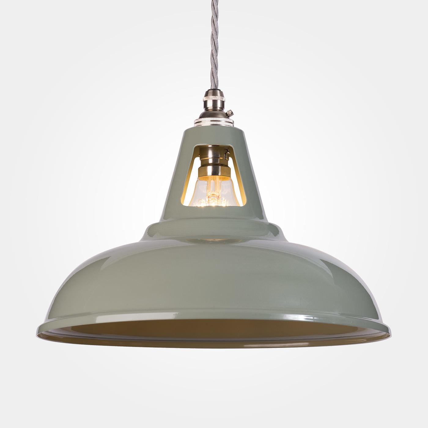 Coolicon Industrial Pendant Light Olive Grey