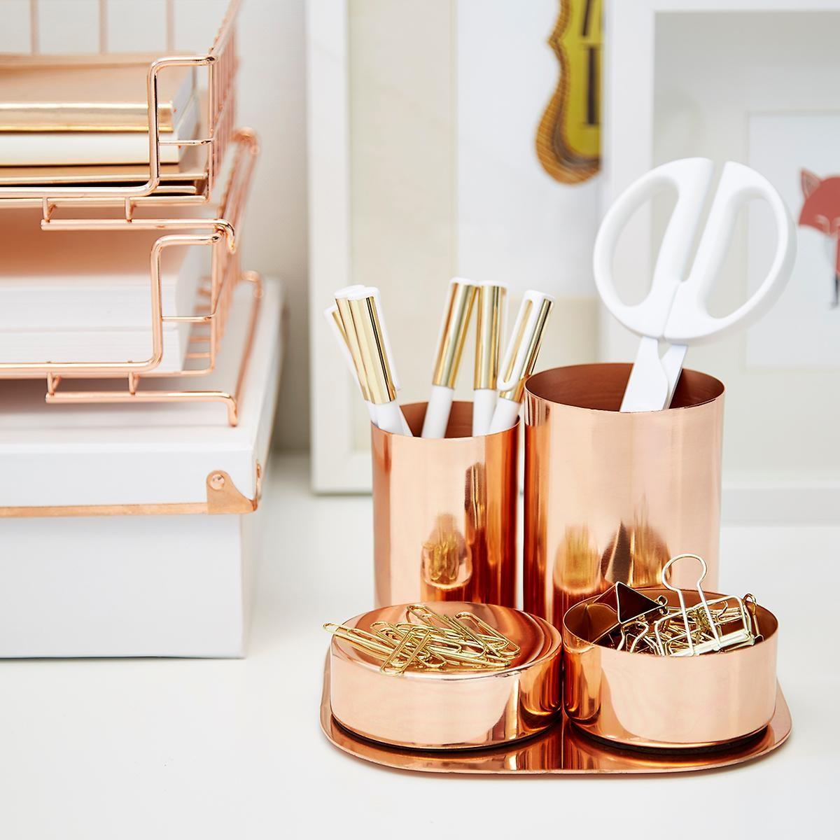 Copper Magnetic Desk Set Container Store
