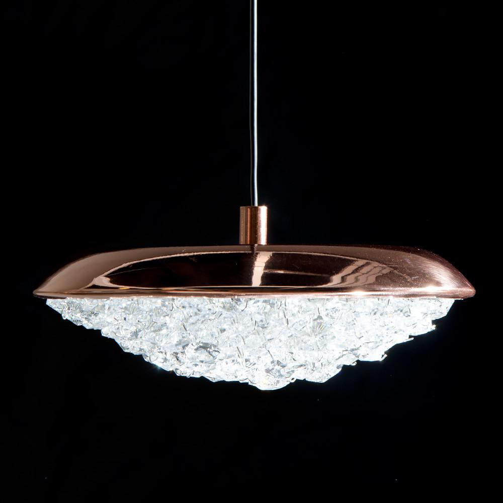 Copper Swarovski Crystal Contemporary Designer Pendant