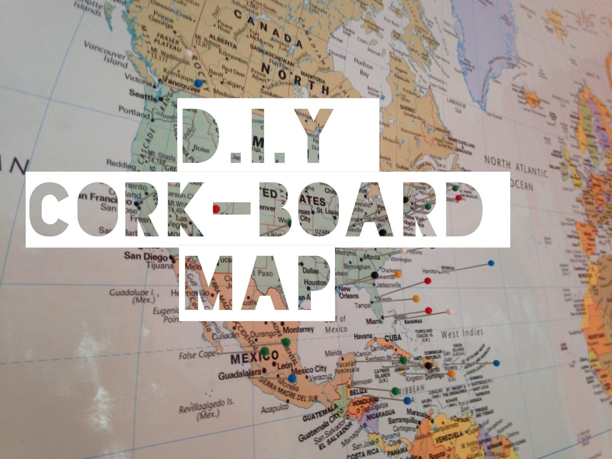 Cork Board Map