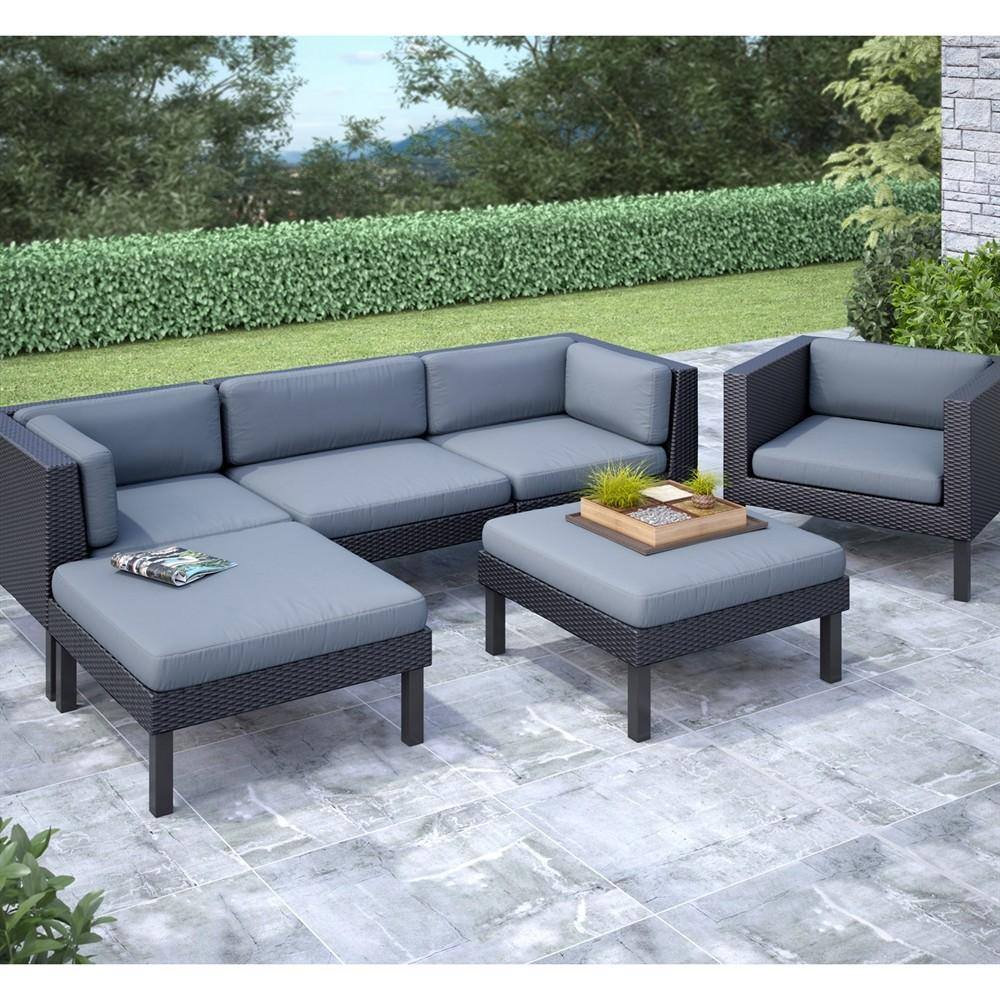 Corliving Ppo Oakland Piece Sofa Chaise Lounge
