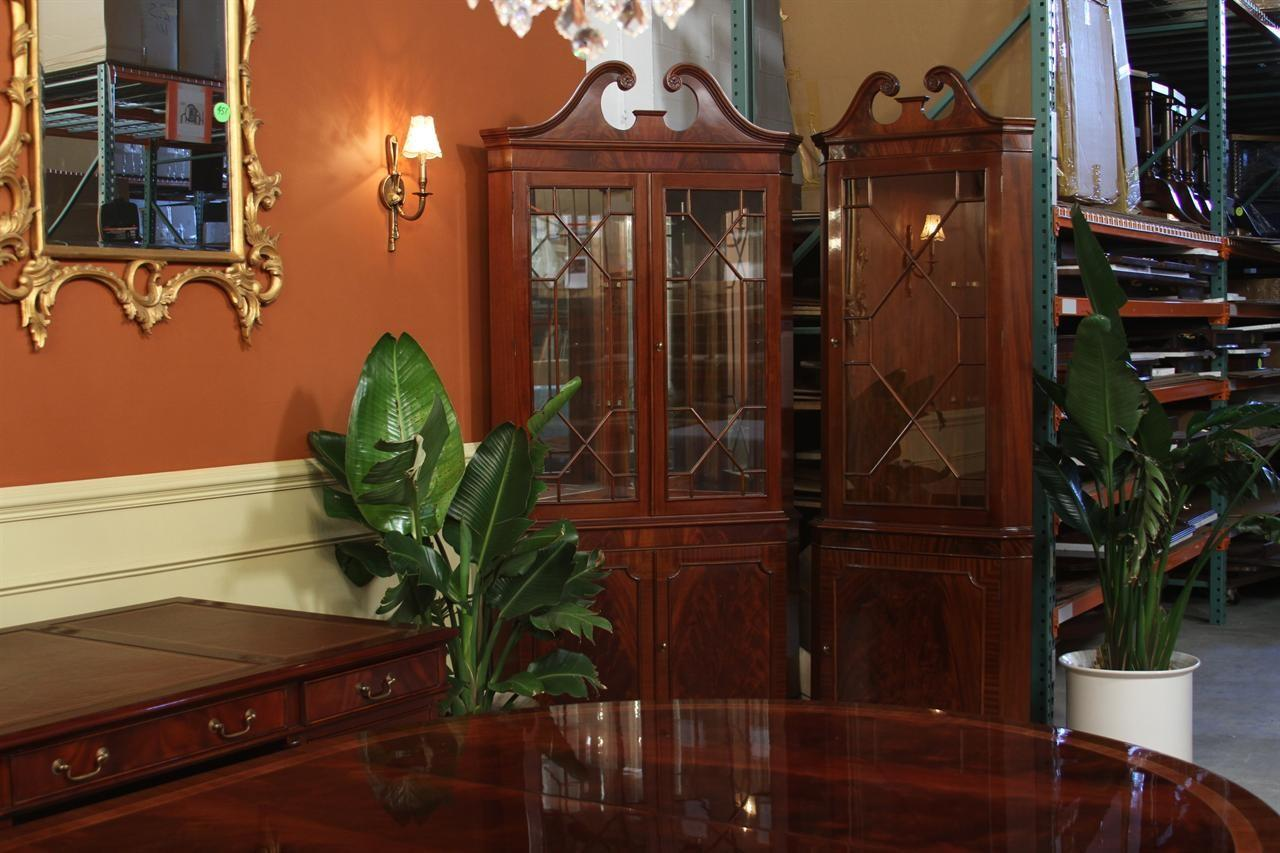 Corner China Cabinet Hutch Dining Room