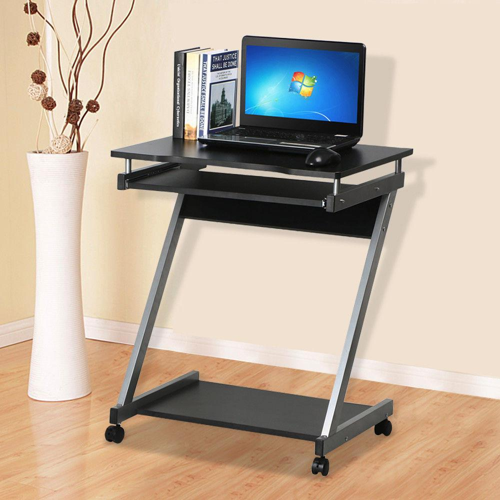 Corner Computer Desk Small Spaces Castors Table