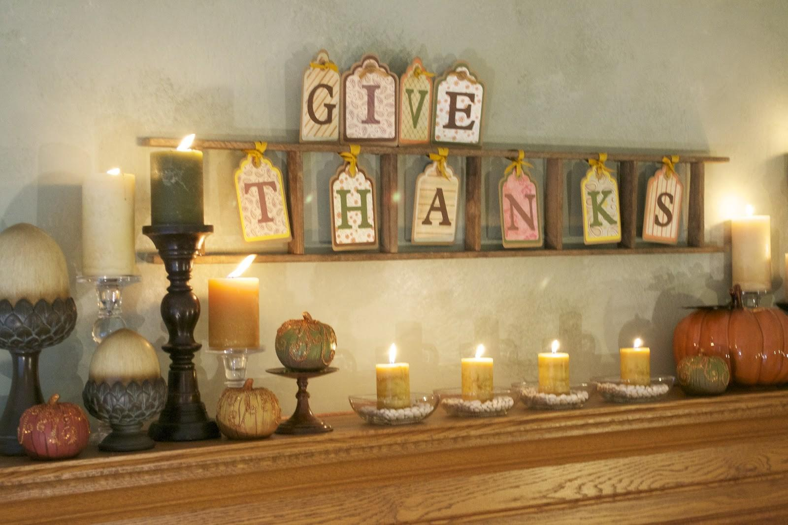 Corner Plaid Paisley Thanksgiving Mantel