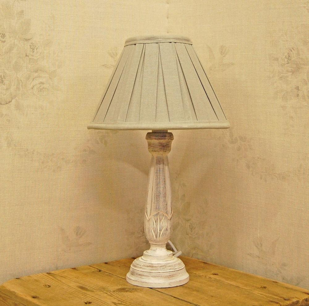 Corner Shabby Chic Table Lamps Made Reclaimed Wooden