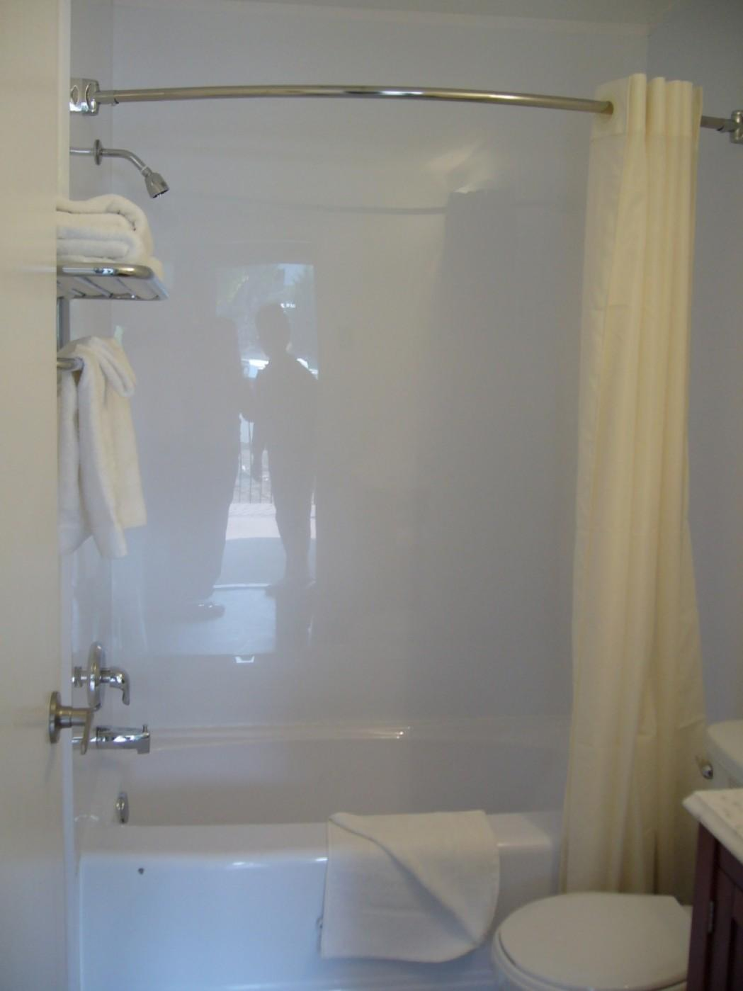 Corner Tub Shower Combo Great Small