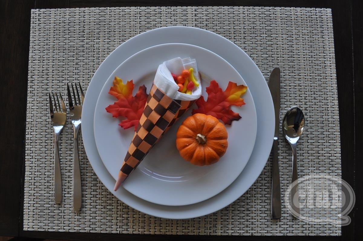 Cornucopia Thanksgiving Table Setting Craft Diy