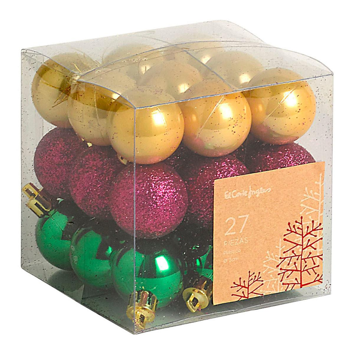 Corte Ingl Sparkling Set Christmas Tree Baubles