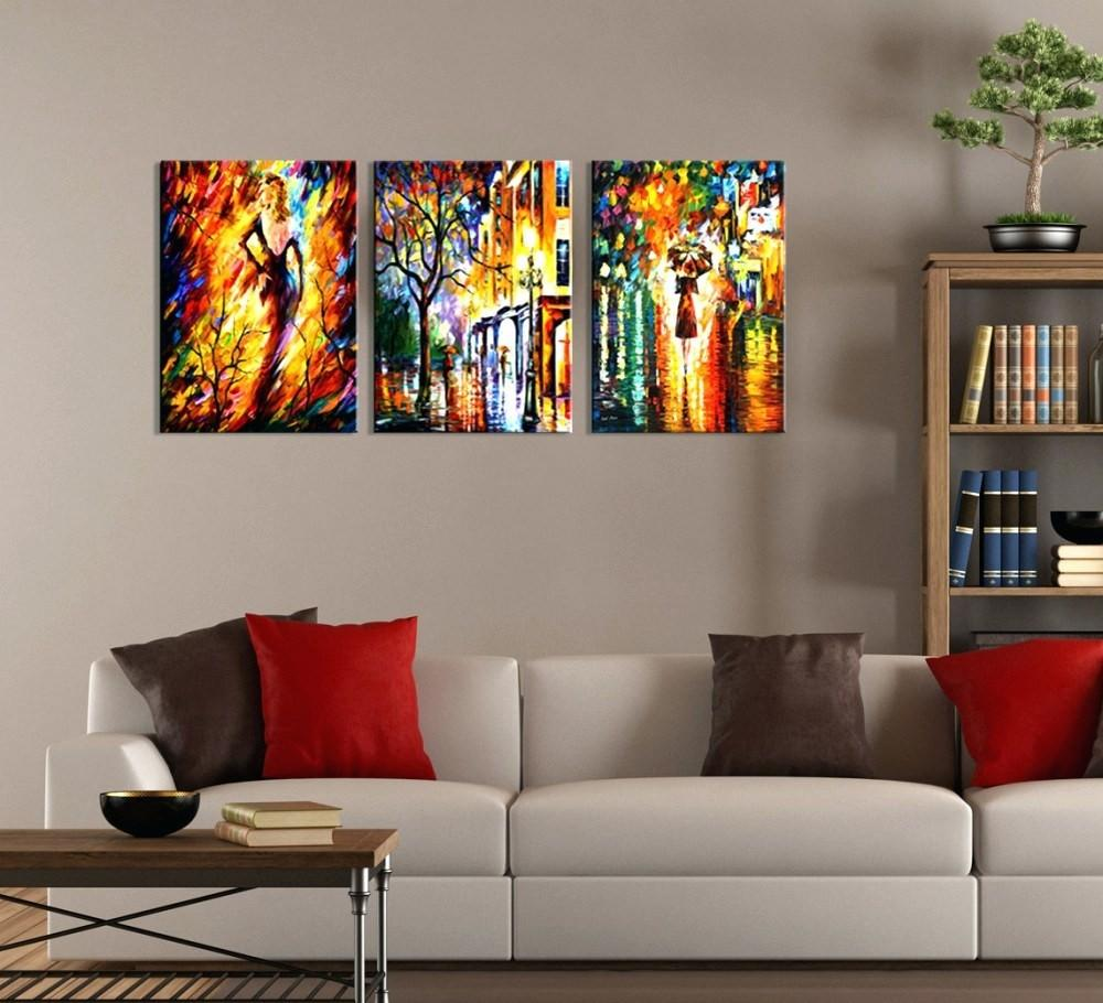 Cosmopolitan Abstract Canvas Art Hand Painted