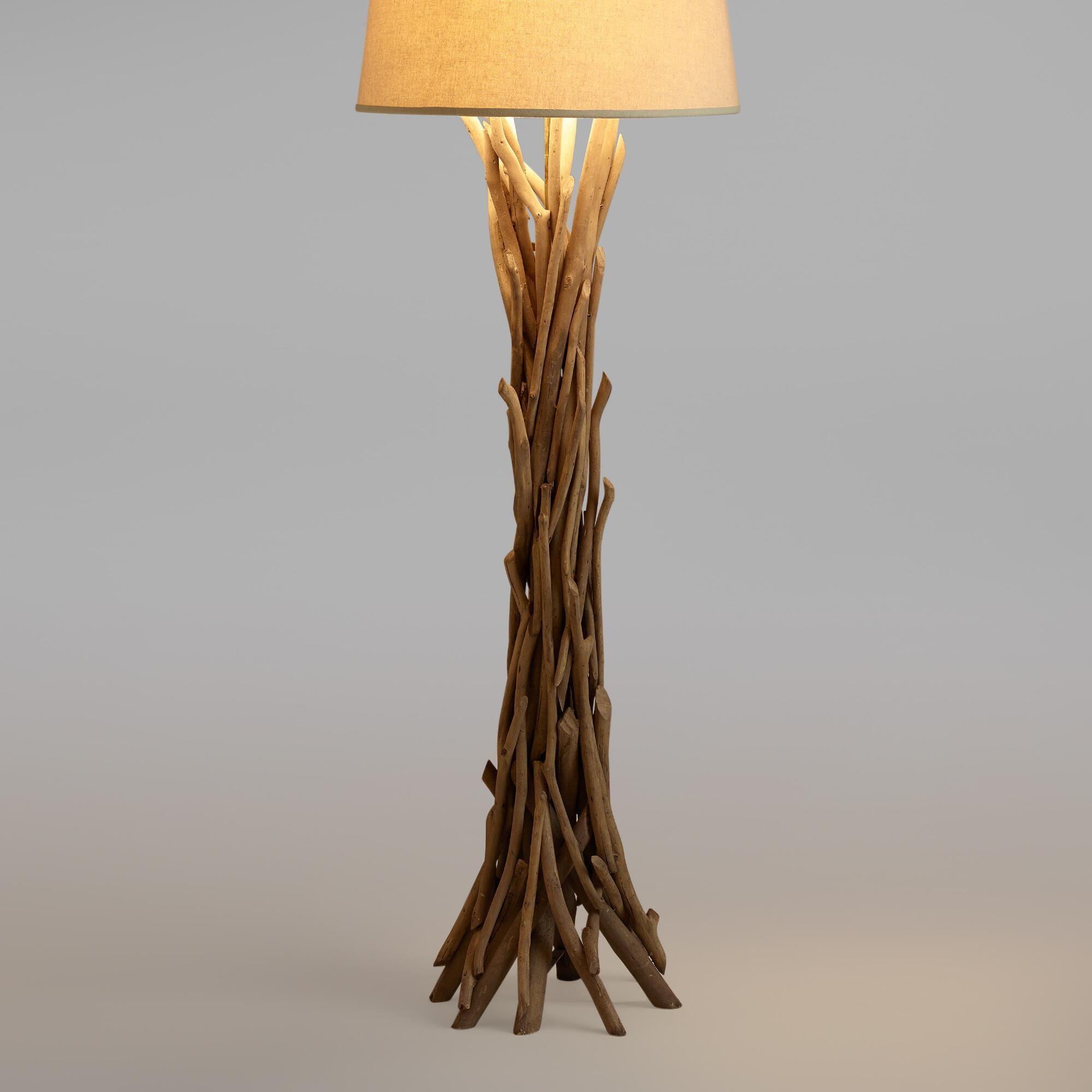 Cost Plus World Market Driftwood Floor Lamp Base Natural