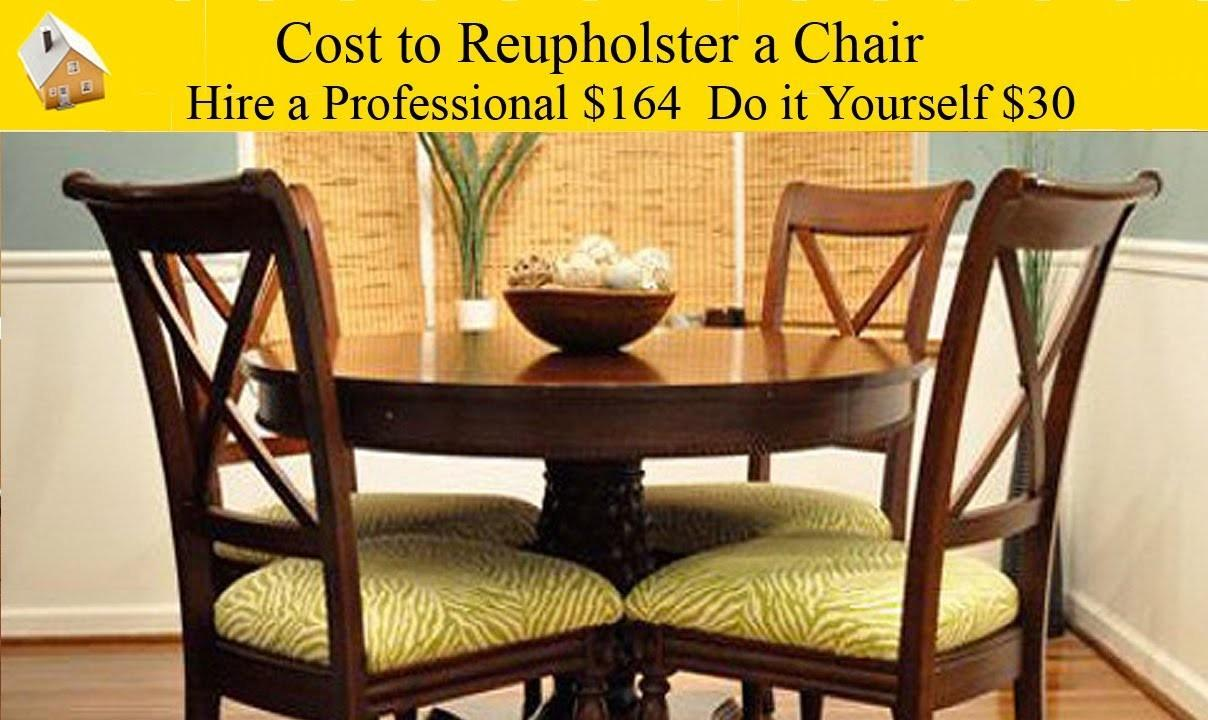 Cost Reupholster Chair