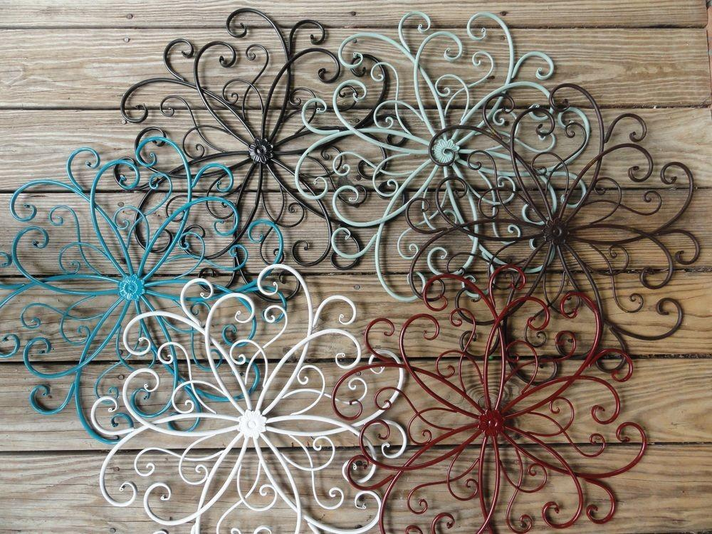 Cottage Chic Metal Wall Decor Beachy Beach Turquoise