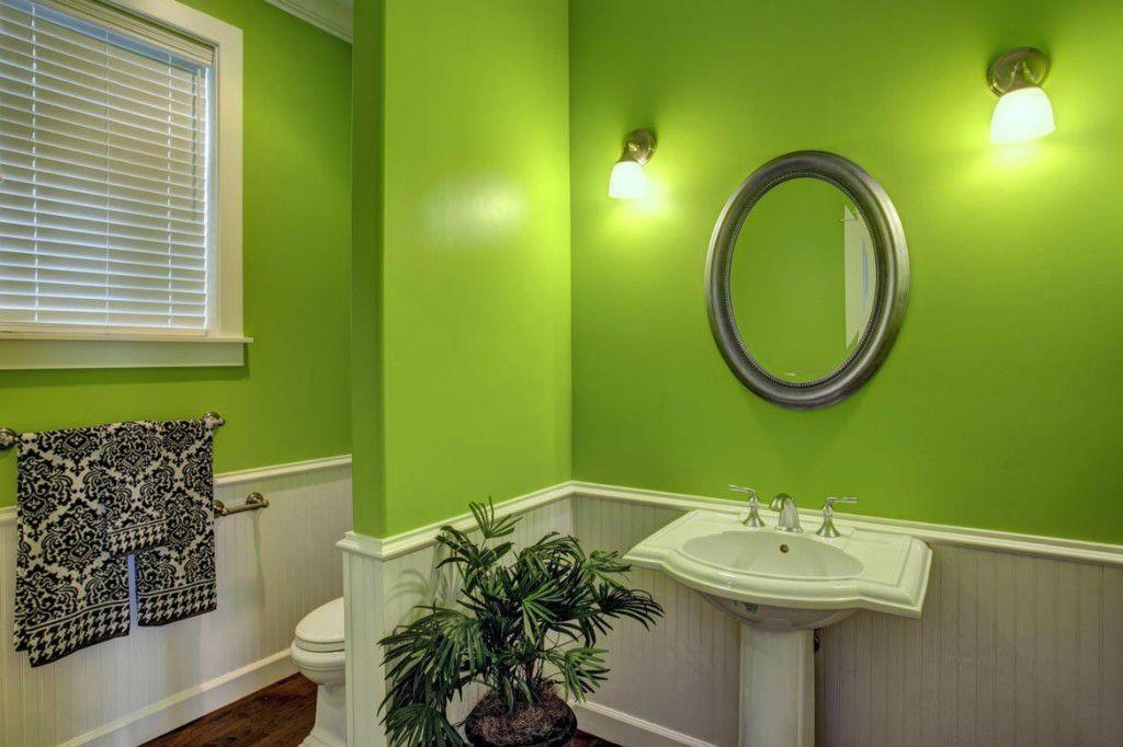 Cottage Powder Room Wainscoting