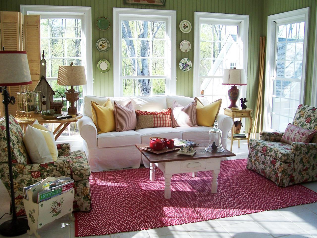 Cottage Style Sunrooms Decorating Design Ideas