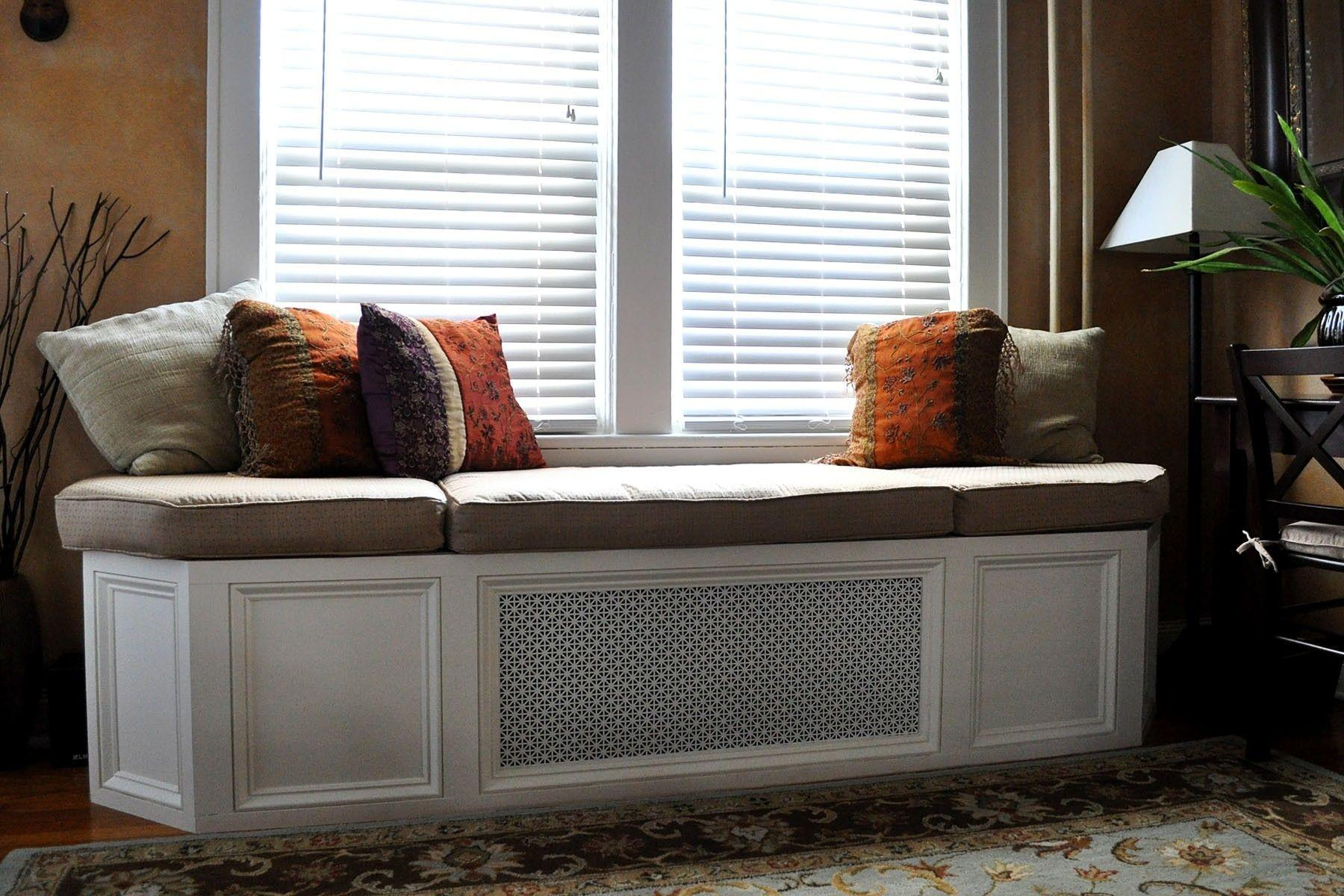 Cotton Living Room Bench Industrial Natural Grand Also