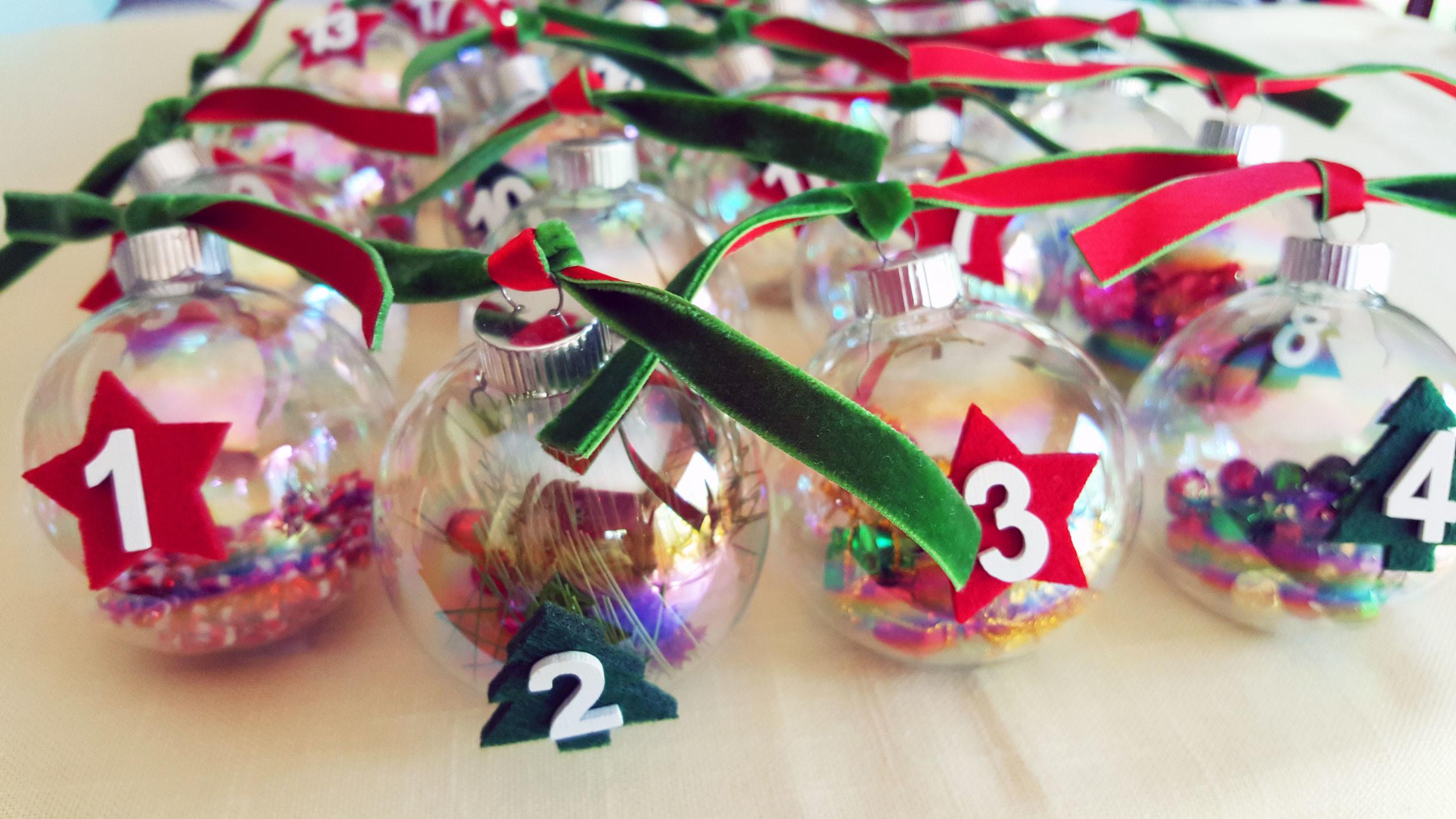 Countdown Christmas Clever Diy Advent Ornaments