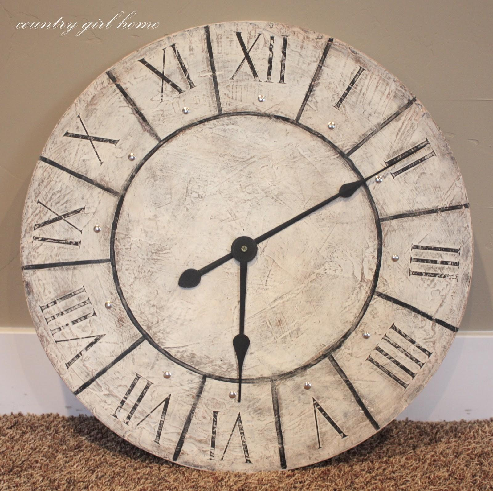 Country Girl Home Large Wall Clock