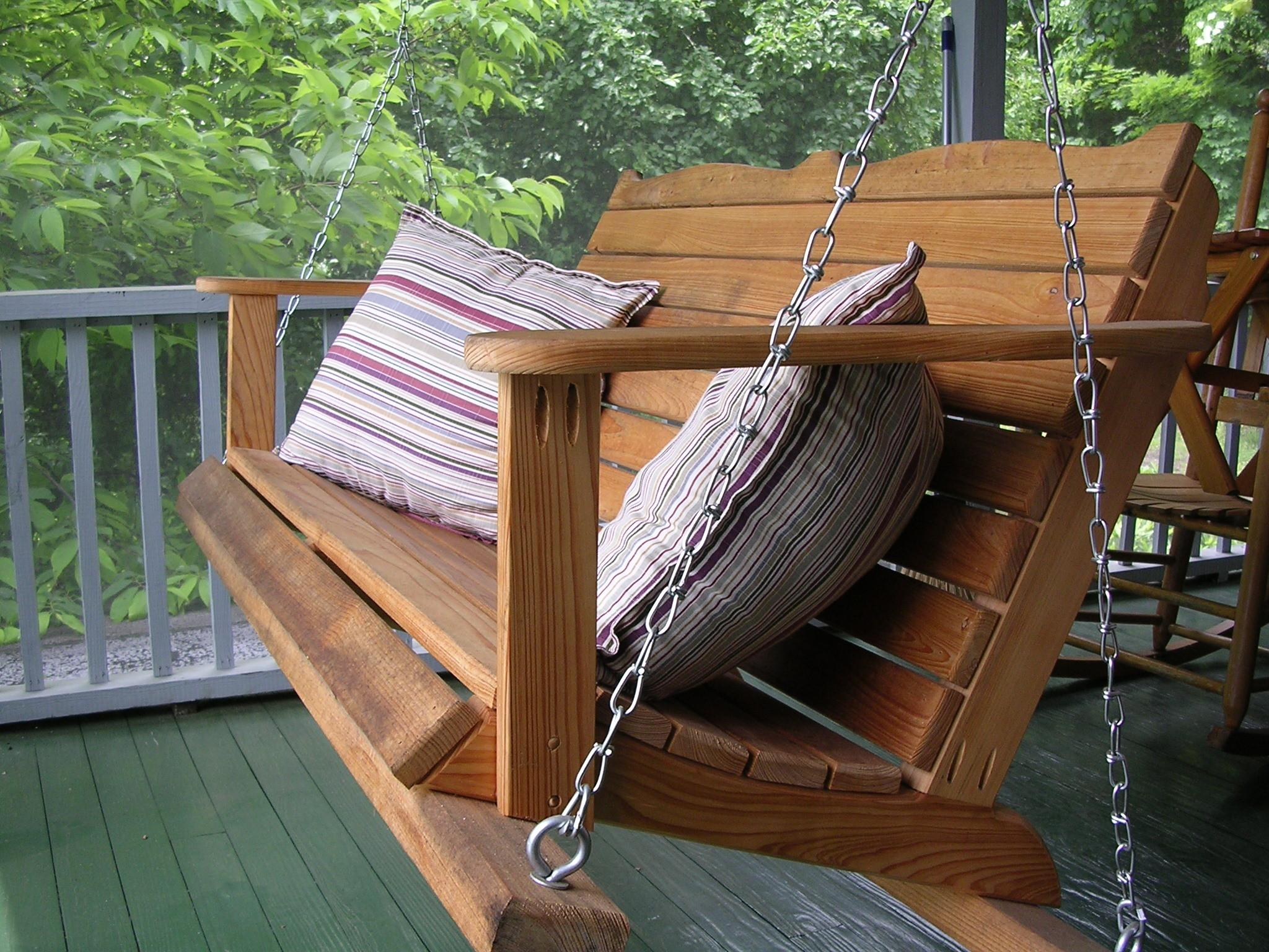 Country House Porch Wooden Hanging Chair Feat Classic