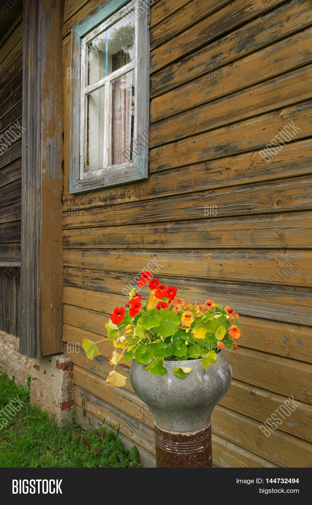 Country House Walls Covered Wood Bigstock