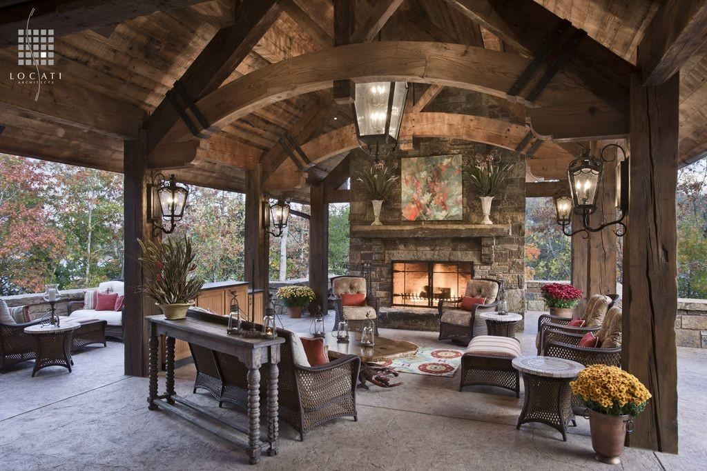 Country Patio Exposed Beam Locati Architects