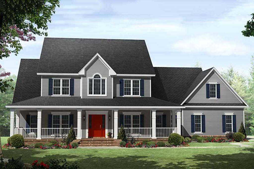 Country Style House Plan Beds Baths 3000