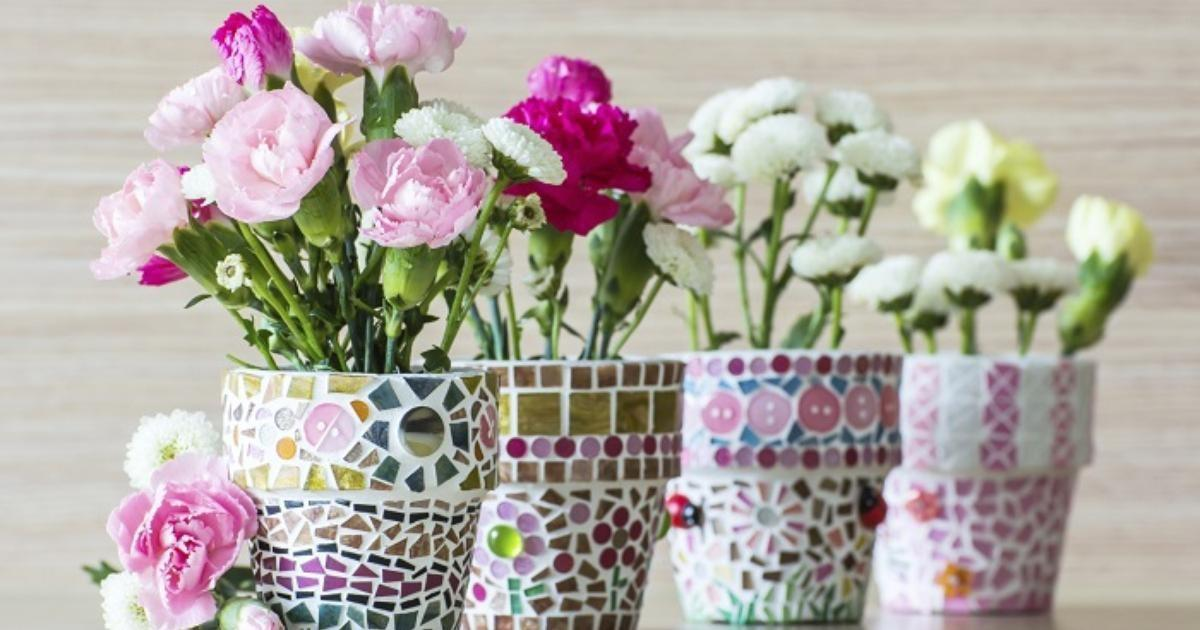 Cover Decorate Flower Pots Ehow