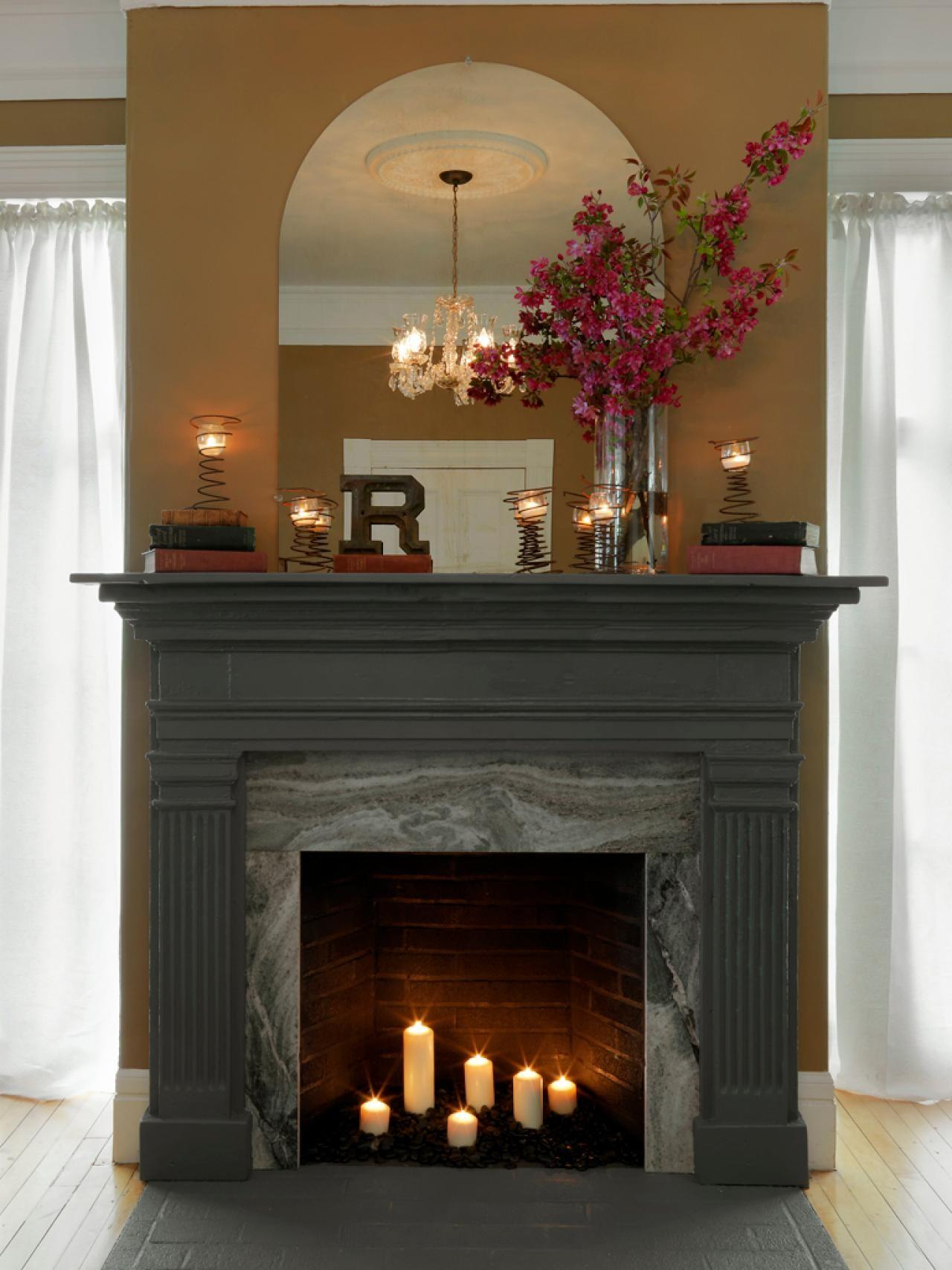 Cover Fireplace Surround Make Mantel