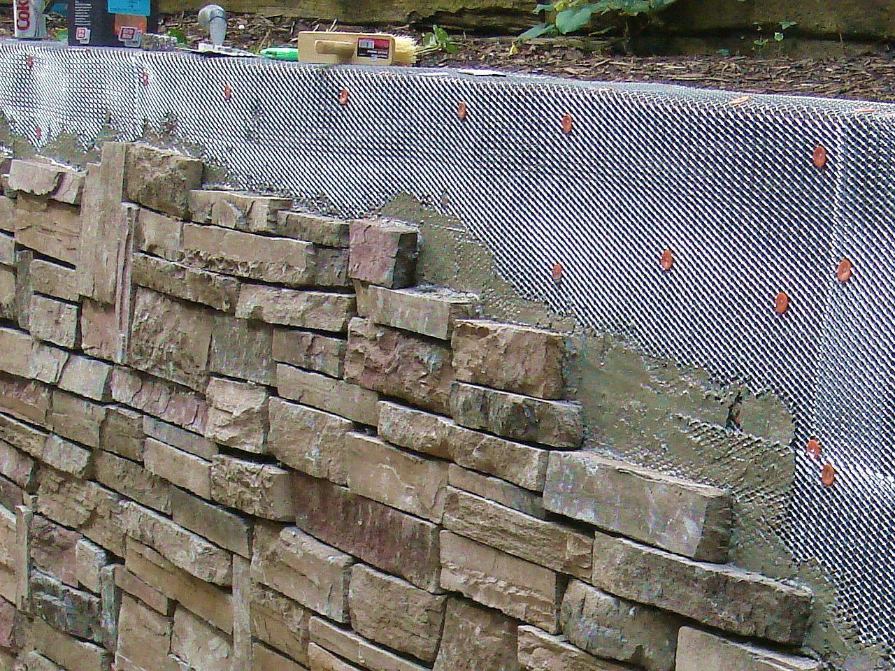 Cover Stone Wall Tos Diy
