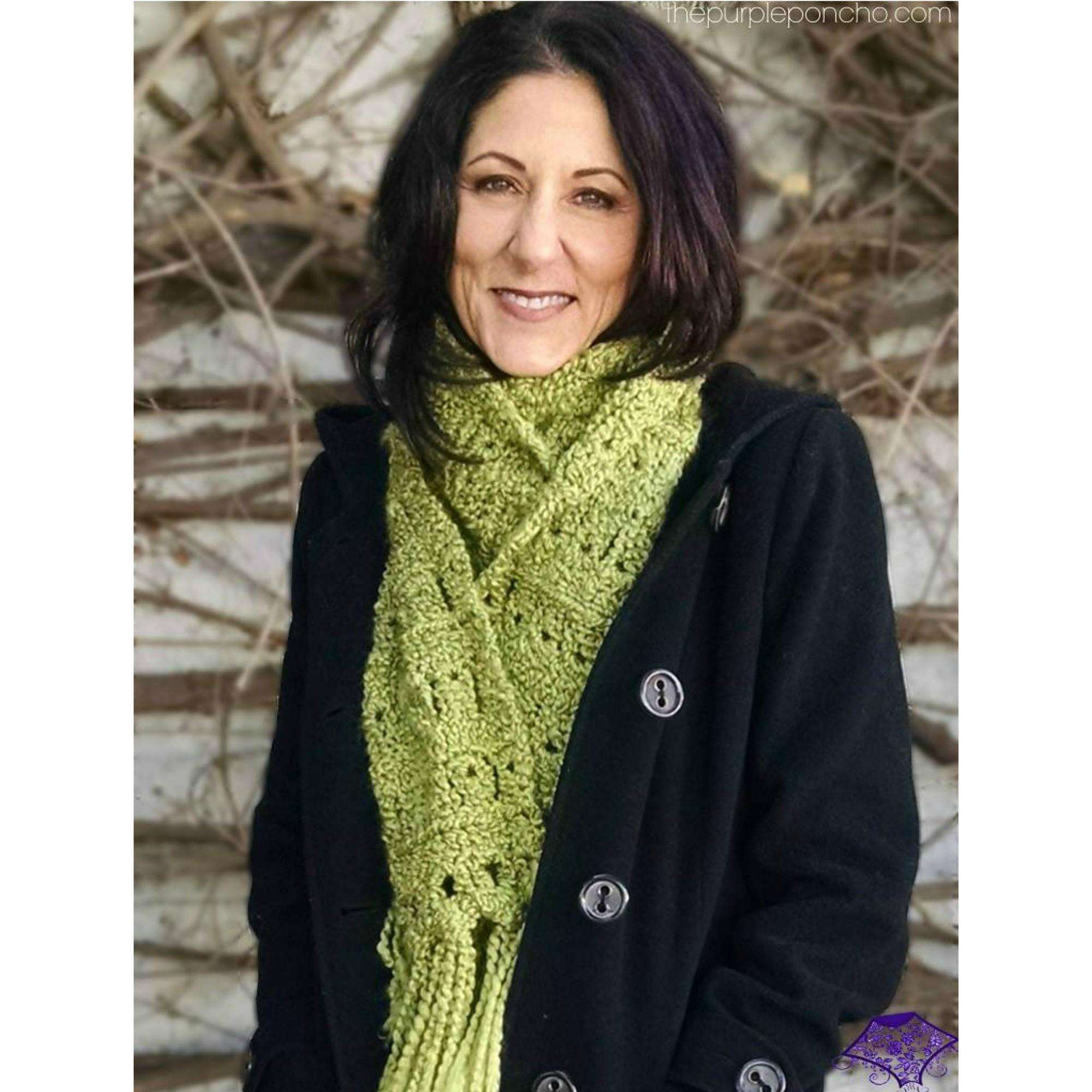 Cozy Broomstick Lace Scarf Crochet Pattern Square