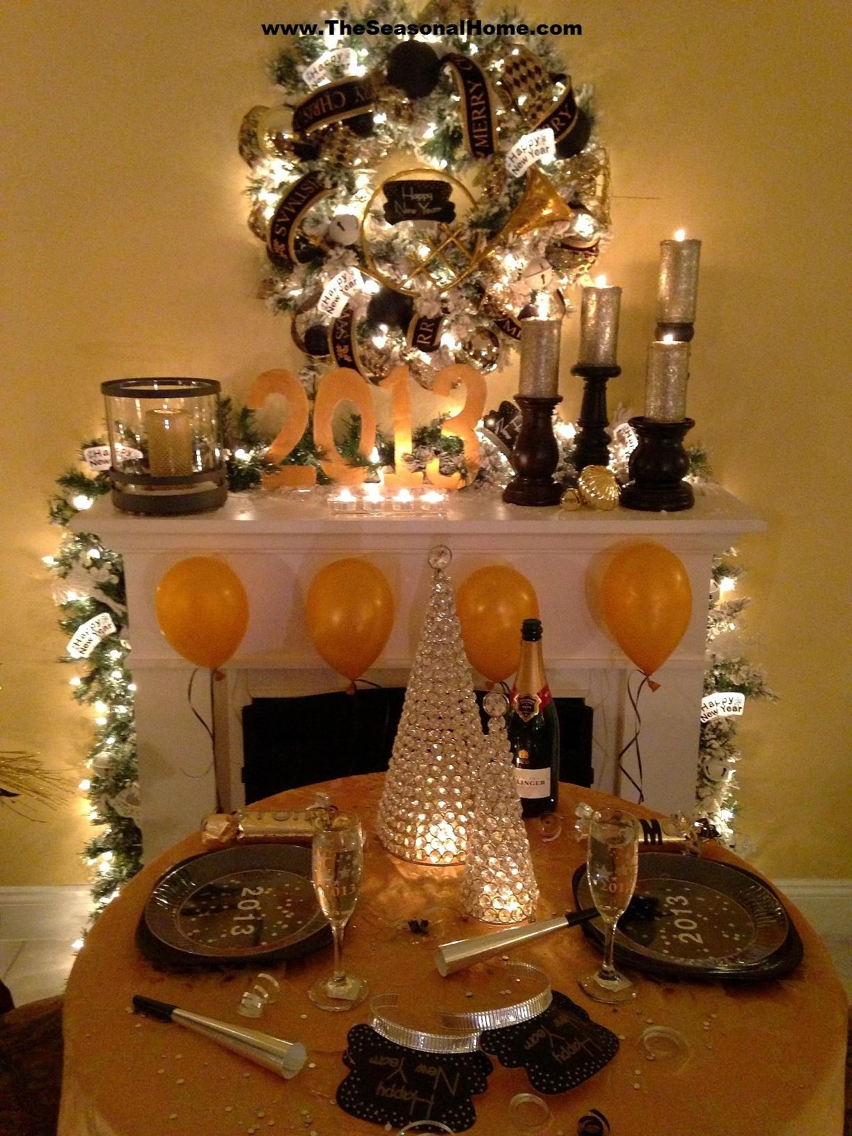 Cozy New Year Eve Dinner Party Home Seasonal