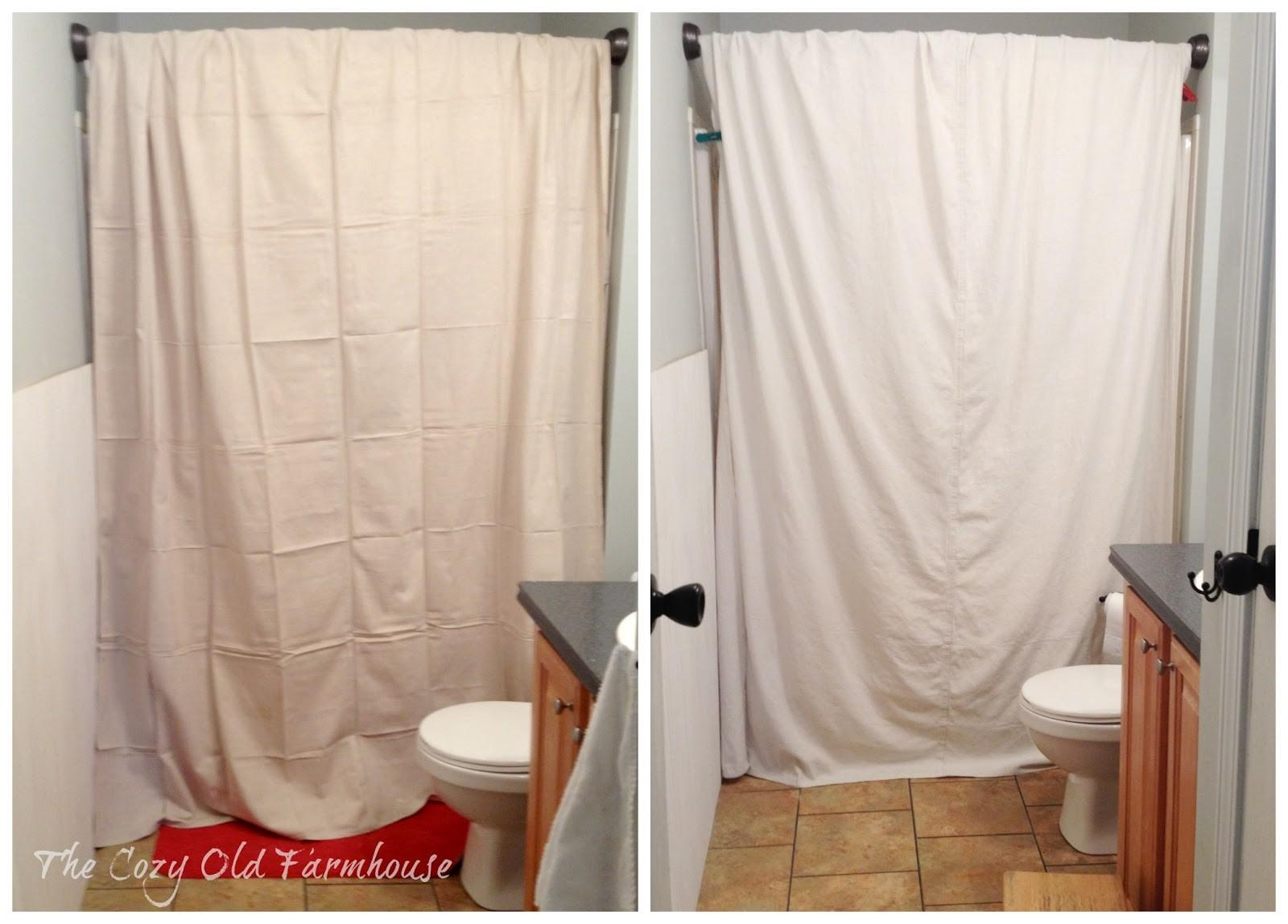 Cozy Old Farmhouse Painter Dropcloth Becomes Diy