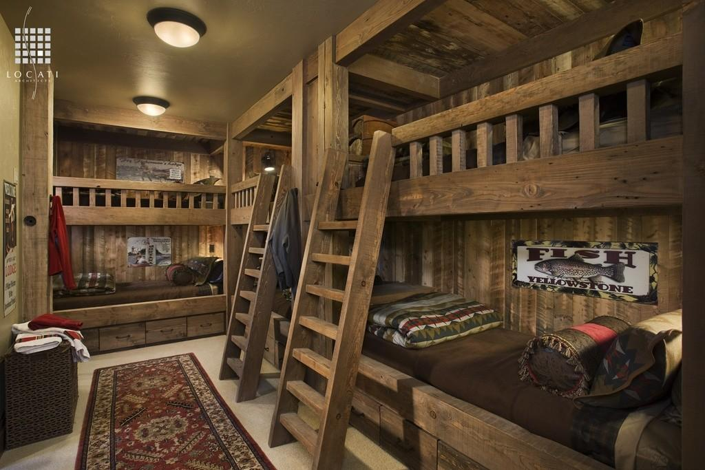 Cozy Rustic Kids Bedroom Design Ideas