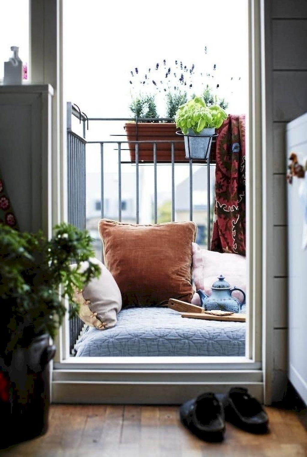 Cozy Small Apartment Balcony Decorating Ideas