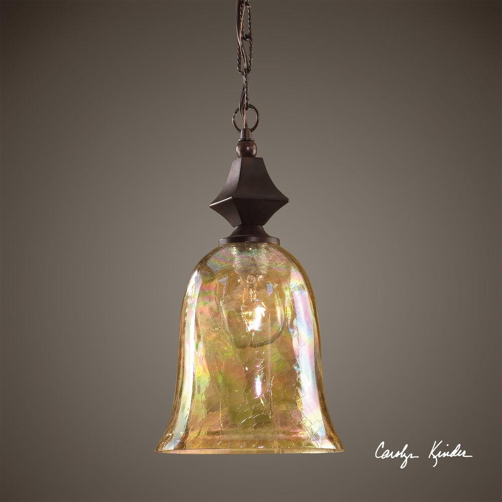 Crackle Glass Mini Hanging Pendant Light Ceiling