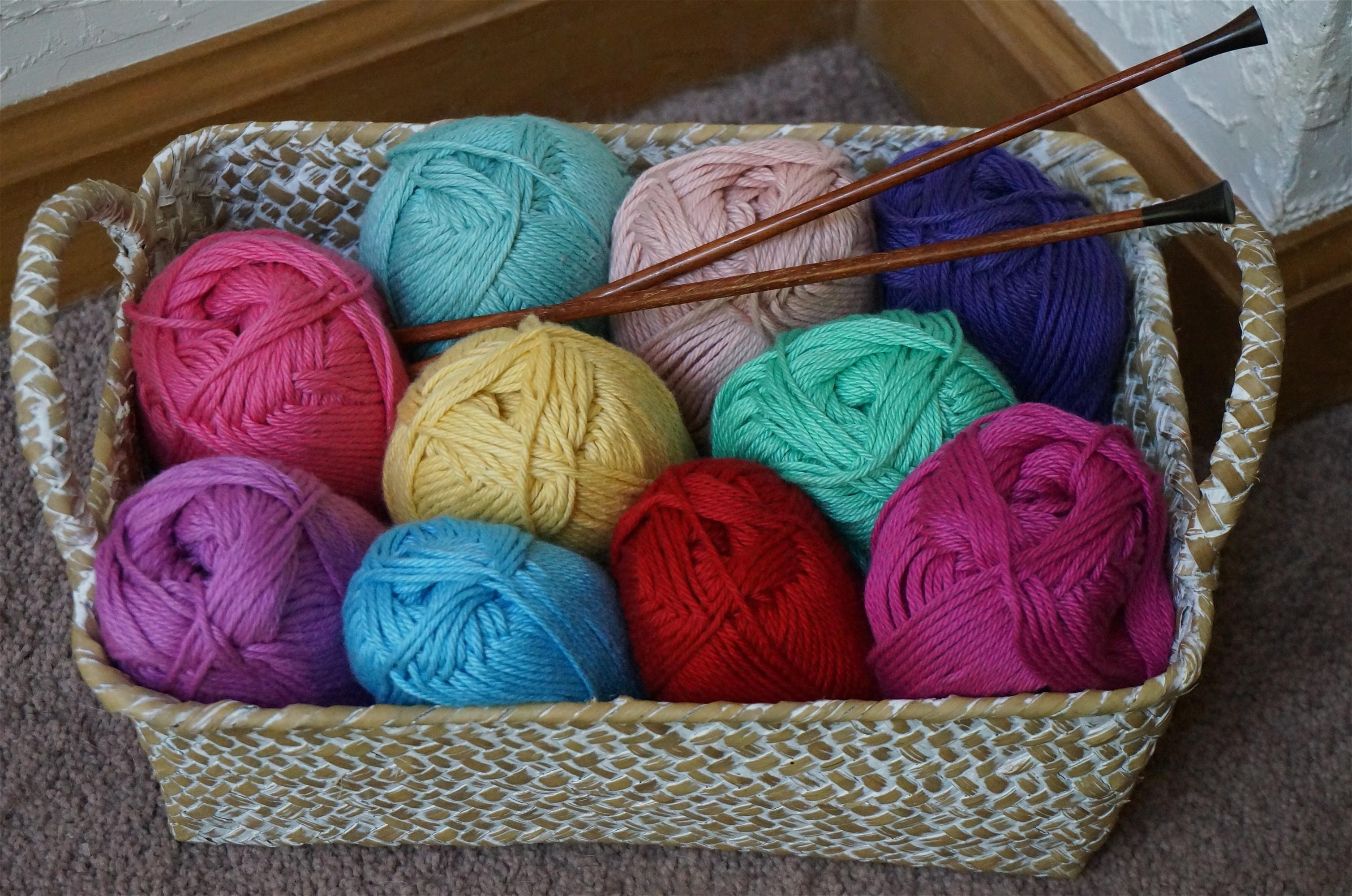 Craft Colorful Knit Wool Material
