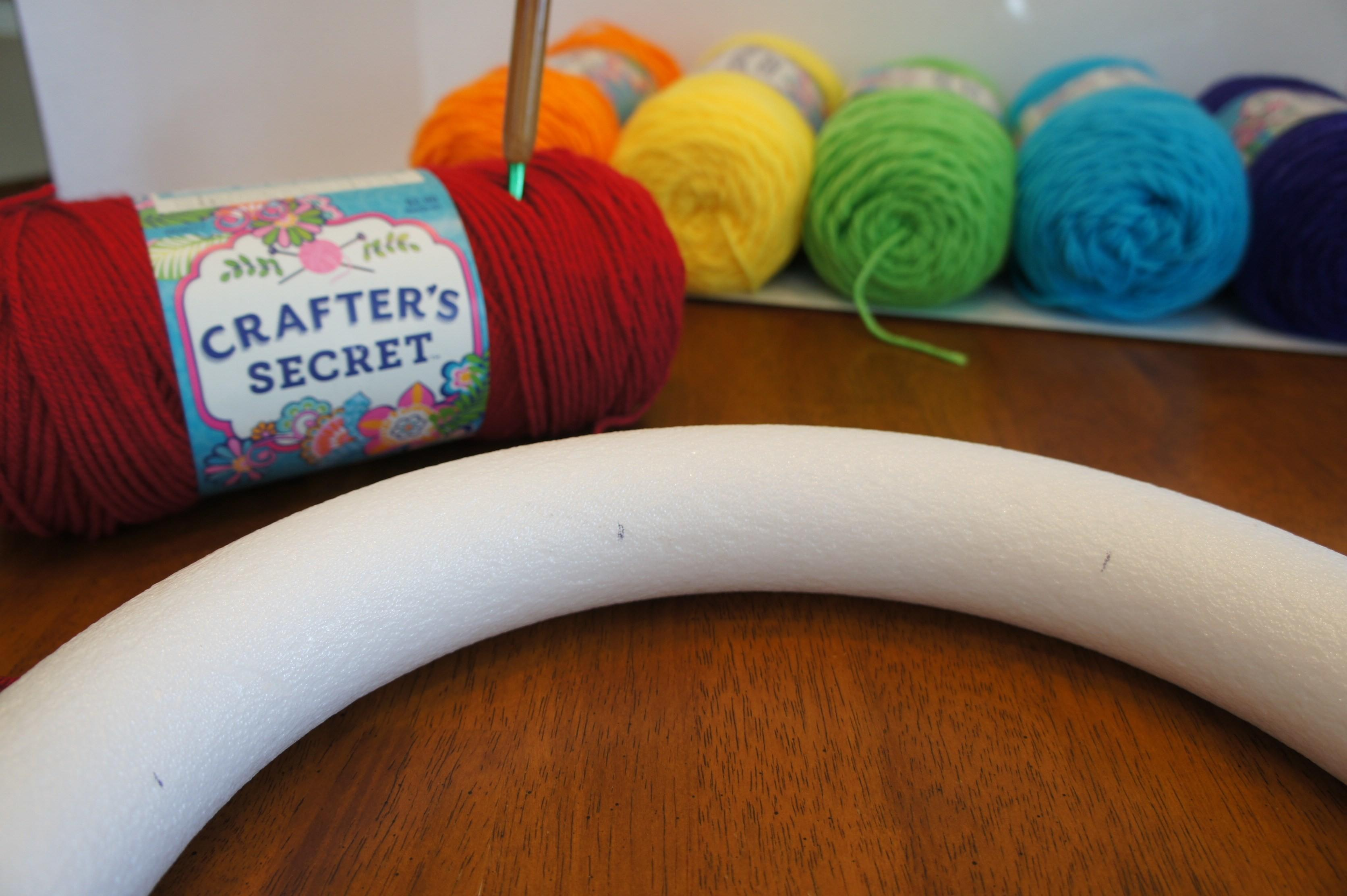 Craft Colorful Spring Wreath Some Yarn Hook