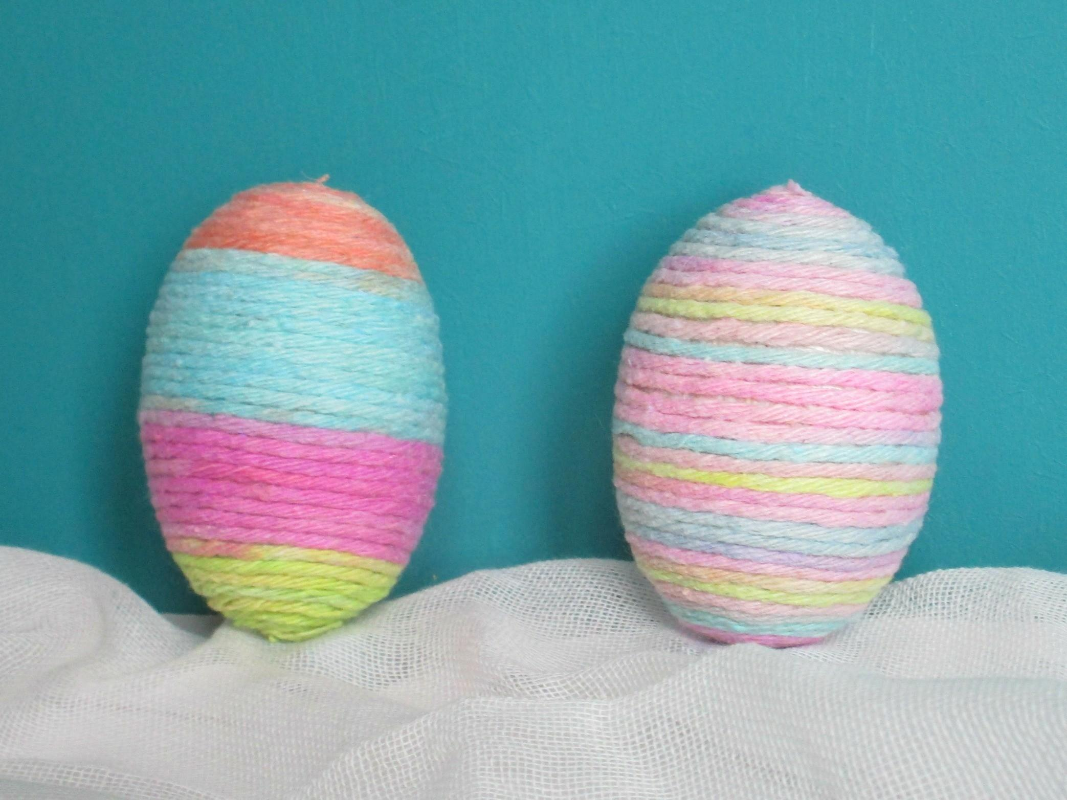Craft Invaders Pretty String Wrapped Eggs