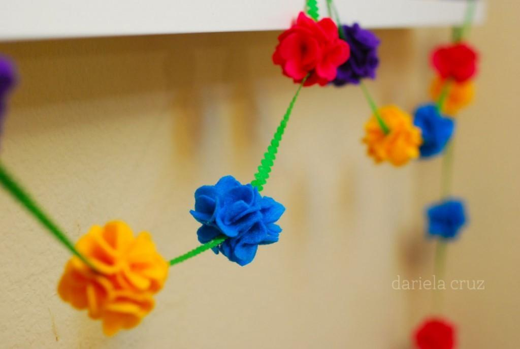 Craft Make Spring Felt Flower Garland