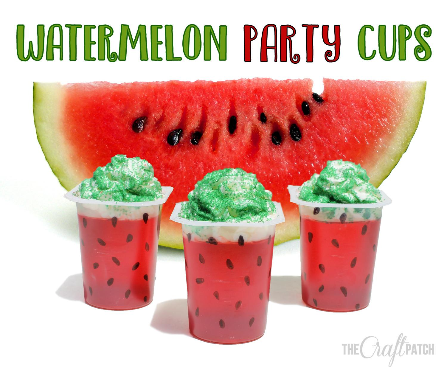 Craft Patch Watermelon Snack Pack Party Cups